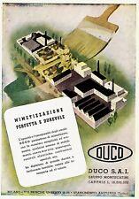 PUBBLICITA' 1941 DUCO MONTECATINI SMALTI MIMETICI PENNELLO CITTA'  AVIGLIANA