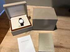 Jaeger Le Coultre Master Ultra Thin Silver Dial Brown Leather Watch