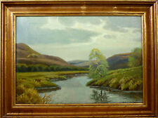 HARALD WENTZEL! LANDSCAPE WITH STREAM. NO RESERVE