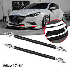 "Adjust 10""-13"" Front Bumper Black Strut Rod Stabilizer Splitter Bars For Mazda 3"