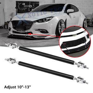 """Adjust 10""""-13"""" Front Bumper Black Strut Rod Stabilizer Splitter Bars For Mazda 3"""