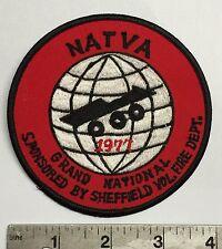 NATVA GRAND NATIONAL CLOTH PATCH-1977 SHEFFIELD OH  ATTEX,HUSTLER,MAX,SCRAMBLER