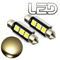 2 Ampoules navette C5W LED 4300K C5W 36 mm 36mm Resistances ODB Eclairage Plaque