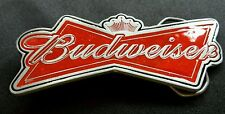BUDWEISER BEER BOW TIE LOGO SHAPED BELT BUCKLE