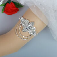 Crystal Applique Wedding Garter Belt Handmade Bridal Garter