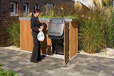 Binto Müllbox System 3er-Box mit Pflanzschale Hartholzvariante 6