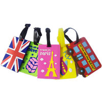Silicone Luggage Tag Reusable Suitcase Name Label ID Showy Travel Badge Identify