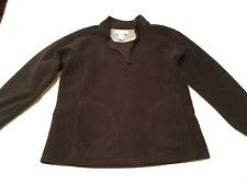 Women's Black Fleece Pull Over Jacket Size M Made By Lady Foot Locker Sport