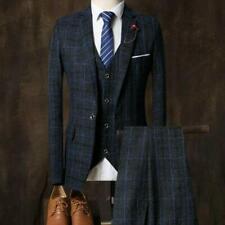 Chic Mens One Button Slim Fit Groom Wedding Formal  Blazer+Pants+Vest 3Pcs Suit