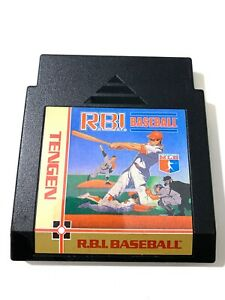 Rbi R.B.I. Baseball - Classic Tengen ORIGINAL NES Nintendo Game Tested WORKING