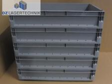 Eurobehälter Kiste ELB 6120 grau Lagerkasten 5 St. Schäfer Kunststoff 60x40x12