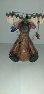 Christmas Moose Ceramic Decoration
