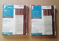 "(Lot Of 2) Bernard Stripe Valance Style Selections Back Tab 60""x15""L NIP"