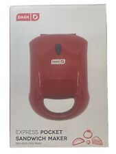 Dash Kitchen Express Pocket Sandwich Maker •Small Appliance Non-stick •Red •New