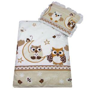 4 tlg Set Bezug für Kinderwagen Garnitur Bettwäsche Decke + Kissen + Füllung EuB