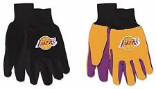 NBA Los Angeles Lakers No Slip Gripper Utility Work Gardening Gloves NEW!