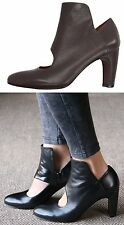 CHIE MIHARA SHOES OSIS CUTOUT BOOTIES PUMP GRAY LEATHER HEELS NEW NIB 39 $425