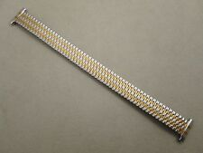 Hadley Roma lady's 12mm 13mm 14mm 15mm 16mm stretch band two 2 tone shiny steel