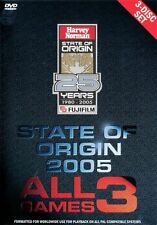 NRL - State Of Origin: 2005 - All 3 Games (3 DVD Set)  (region 0 = All Regions)