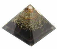 Extra Large 70-75Mm Orgonite Pyramid Black Tourmaline Crystal Energy Generator