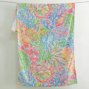 """NEW Lilly Pulitzer GWP BEACH TOWEL POOL Multi Lovers Coral 30' x 60"""" NWT"""