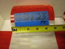 "WHITE - RED 6""-6"" Reflective   Conspicuity Tape 4-3/4""x 23'"