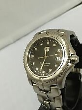 Authentic Mens Tag heuer Link Factory Black Diamond Dial Swiss Watch