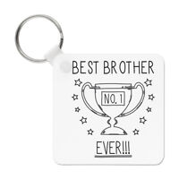 Best Brother Ever No.1 Trophy Keyring Key Chain - Funny Favourite