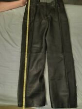 Whet Blu Solid Black Leather Pant's Woman's Size 10