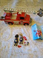 Playmobil Fire Ladder Truck with Figures Set #5980, lights and sounds work