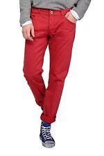 Unifarbene Herrenhosen mit geradem Bein