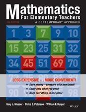 Mathematics for Elementary Teachers: A Contemporary Approach, Musser, Gary L., P