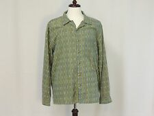 The Territory Ahead green striped long sleeve shirt size L