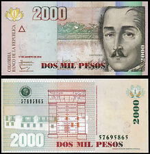 Colombia 2000 Pesos (P457p) 2012 UNC