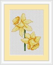 Daffodils Cross Stitch Kit From Luca-s