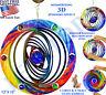 3D METAL HANGING KINETIC WIND SPINNER HOOK 7 MARBLES OUTDOOR GARDEN YARD DECOR