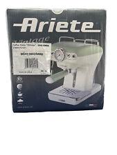 Ariete Espressomaschine Vintage 1389GR, 900 Watt, 15 bar Milchschaum,Cream Green
