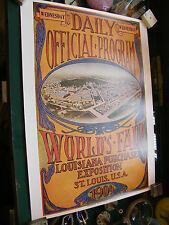 Affiche Jeux Olympiques St Louis USA 1904 Edition CIO 1987 50 sur 70 cm
