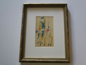 ADOLPH ODORFER DRAWING PAINTING RARE CUBIST CUBISM MODERNISM ABSTRACT MODERNISM