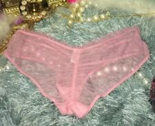 Victoria's Secret Sheer Mesh Low Rise Lace Ruche Scrunch Cheeky Panty Panties M