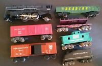Vintage Train Lot Marx Locomotive #1666 Marx Coal Tender K-Line Cars & More