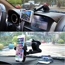 360° Phone Car Holder Windshield Mount Stand For iPhone & Android Phone GPS Blac
