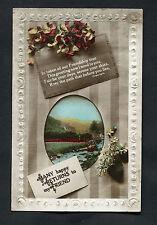 C1920s Birthday Card - Stream & Flowers - To My Friend