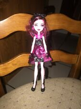 MONSTER HIGH DRACULAURA DOLL WITH SPIDERWEB HAT #16