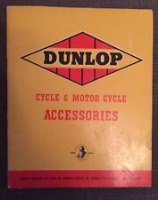 Dunlop Cycle & Motor Cycle Accessories Catalogue c1930s
