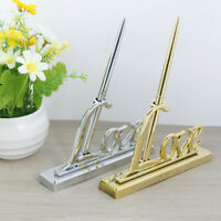 Gold Silver Guest Book Signing Pen Love Sign Table Decor Wedding Signing Pen TB