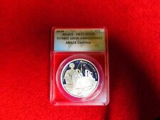 2012 Titanic 100th Anniversary Alderney Guern £5 .999 Silver Coin ANACS PR PF 70