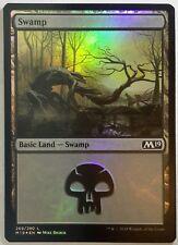 1x FOIL Swamp #269 Mike Bierek art Near Mint Magic basic land Core Set 2019 M19