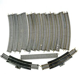 """TYCO HO Scale 18"""" R Curved Terminal Nickel Brass Track 15885 15946 16 Piece lot"""