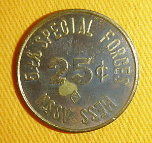 5th Special Forces - US MILITARY TOKEN - 25c - NHA TRANG - Vietnam War - 5315